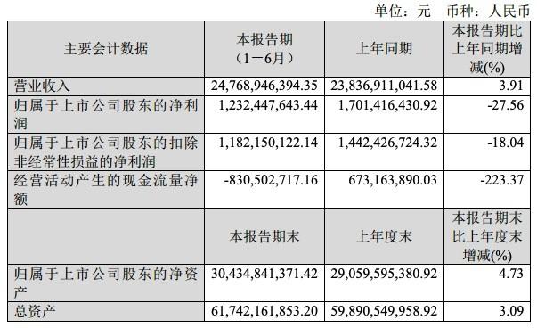 闻泰科技2021年上半年净利12.32亿元 同比降27.56%