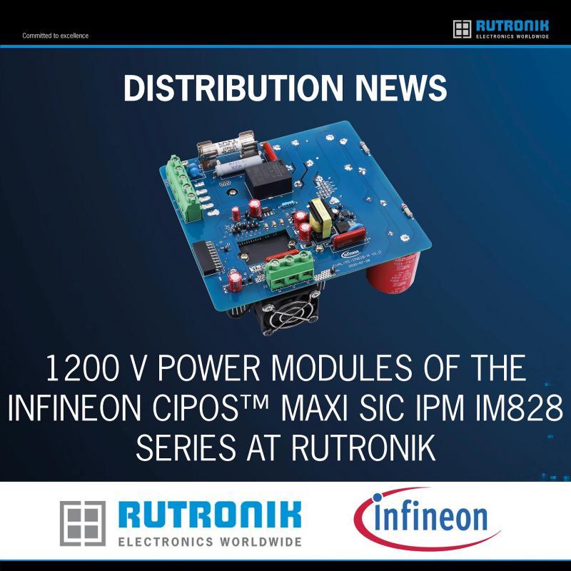 采用最小封装提供更多设计灵活性儒卓力提供英飞凌 CIPOS Maxi SiC IPM IM828系列1200 V电源模块