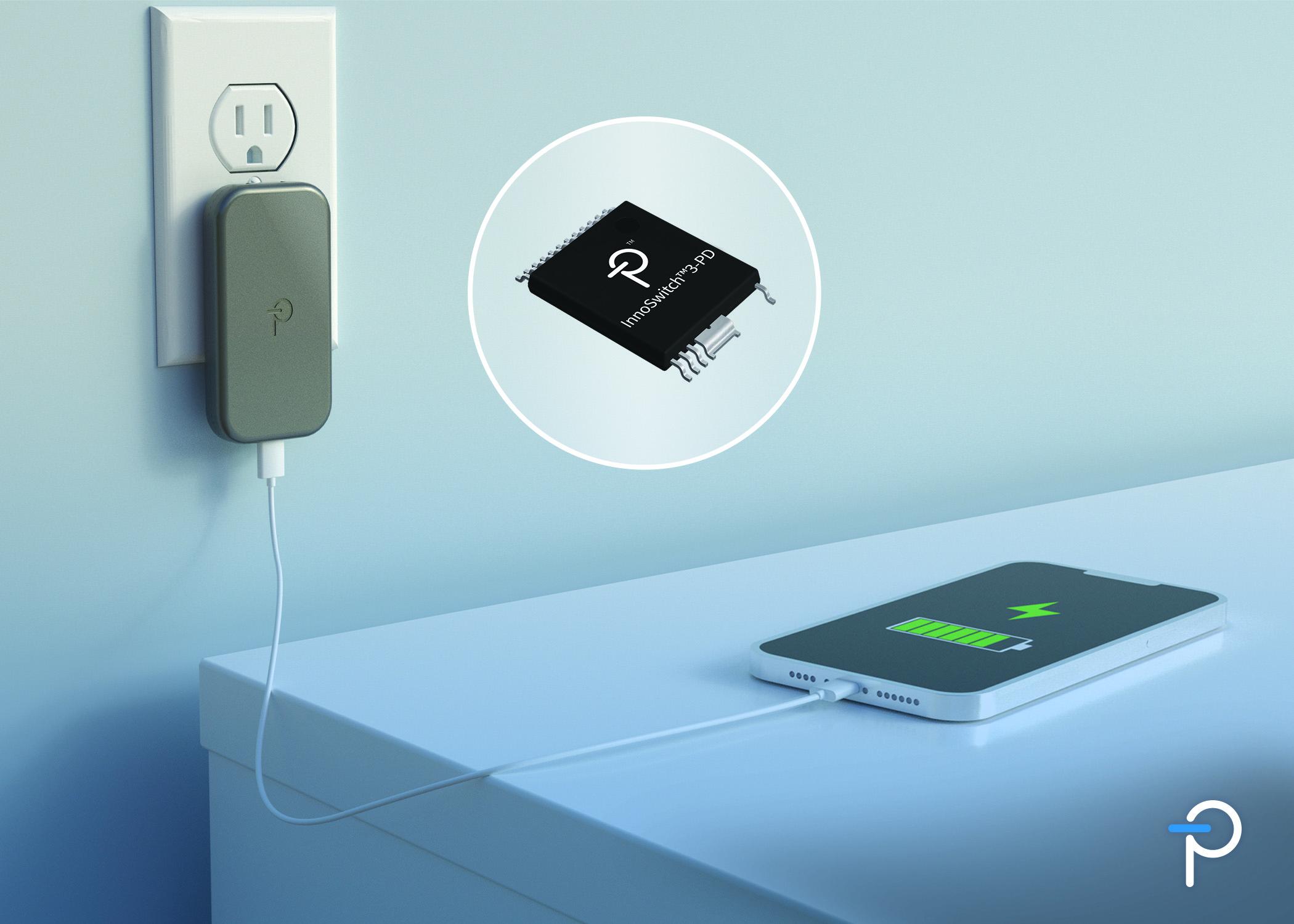 Power Integrations推出内置USB PD控制器的InnoSwitch3-PD系列反激式开关IC