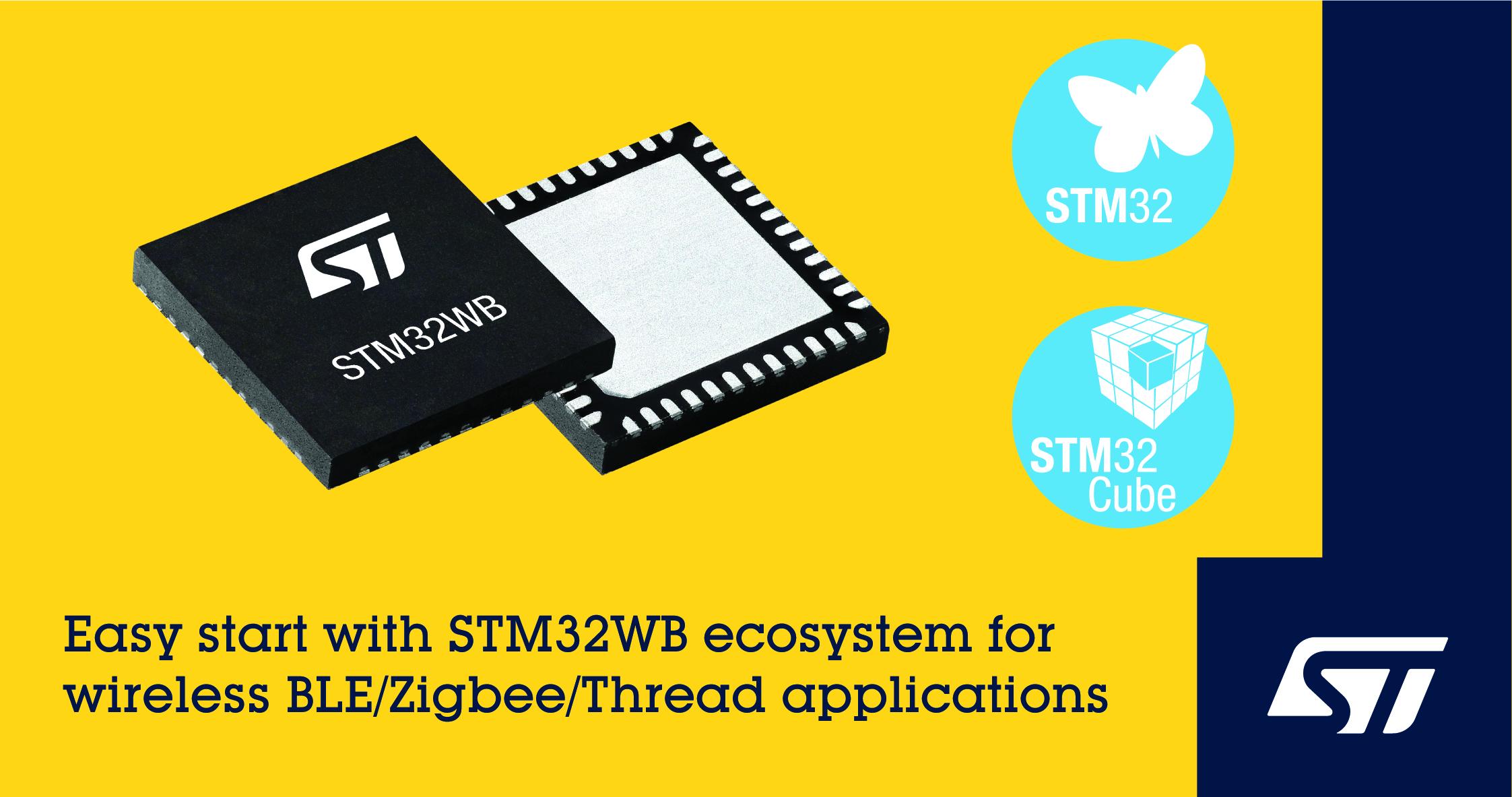 意法半导体市场领先的 STM32 微控制器加快无线产品开发