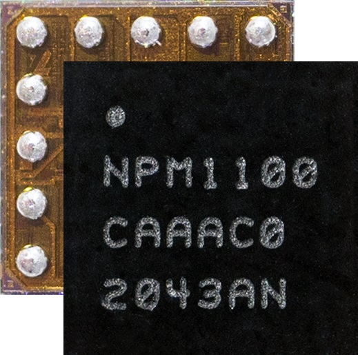 用于电池充电和供电:儒卓力提供Nordic Semiconductor超级紧凑单芯片 PMIC 解决方案